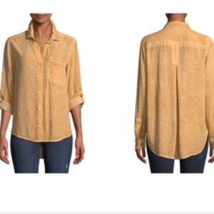 VELVET HEART Button Down Relaxed Soft Shirt L